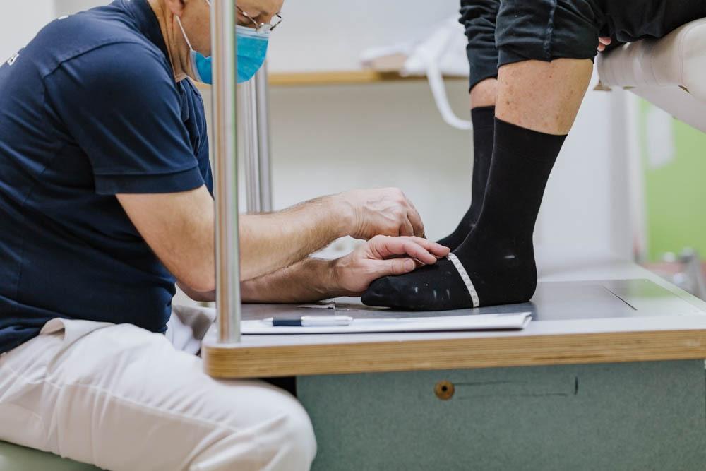 Vermessung des Fußes